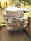 | 1X | PALLET OF SWOON BED PARTS, UNSURE IS ANY MATCH |