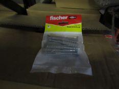 10x Fischer - Coach Screw 6 x 50 (Packs of 10) - New & Packaged.