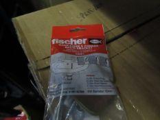 10x Fischer - Hand Rinse & Corner Basin Bracket Drill Diameter 10mm - New & Packaged.
