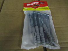 20x Fischer - Coach Screw 8 x 70 (Packs of 10) - New & Packaged.