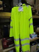 1x ST Workwear - Hi-Vis Yellow PU Trousers - Size Medium - With Original Tags. & 1x ST Workwear -