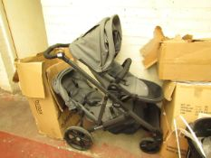 Britax - B - Ready Double Pram - Used Condition, But Good Condition. Includes Raincoats & Boxed. RRP