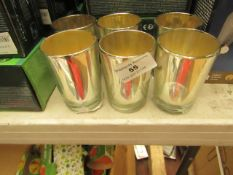 6x Mercury Votive Candle Holder - All Good Condition.