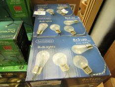 6x Lumineo - String Bulb Lights 8x3 LED 6.9Ft - (Battery Operated) - All Boxed.