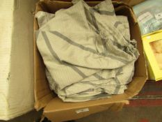 Harlequin - Grey Duvet Cover & Pillow Cases - Size Unknown - Boxed.