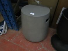 | 1x | MADE.COM EDERSON GARDEN CEMENT STOOL |UNCHECKED AND BOXED | RRP £- |