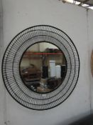| 1X | MADE.COM WALL MIRROR IN BLACK 80CM DIAMETER | NO BOX, MAY HAVE SLIGHT MARKS |