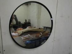 | 1X | MADE.COM ESSENTIALS BEX ROUND MIRROR 55CM | WITH BOX THE MIRROR IS NOT DAMAGED BUT NEEDS