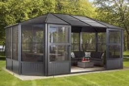 Sojag freestanding solarim screened gazebo, unchecked but had a return label from costco saying
