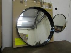 | 1X | MADE.COM ESSENTIALS BEX LARGE ROUND MIRROR 76CM | WITH BOX THE MIRROR IS NOT DAMAGED BUT