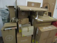 | 2X | PALLETS OF MADE.COM ITEMS ALL OF WHICH ARE EITHER DAMAGED OR MISSING PARTS |