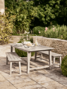 | 1X | RAVELLO OUT DOOR DINING SET INCLUDES TABLE AND 2 BENCHES | UNCHECKED FOR COMPLETENESS AND