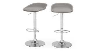 | 1x | MADE.COM box of 2 Kudo Adjustable Bar stools in grey | boxed and unchecked | RRP £99 |