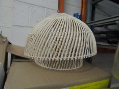 | 1x | MADE.COM JAVA RATTAN LIGHT SHADE |UNCHECKED | RRP £49 |