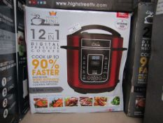 | 2X | PRESSURE KING PRO 12 IN 1 5LTR PRESSURE COOKER | UNCHECKED AND BOXED SOME MAY BE IN NON