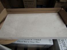10x Packs of 5 Cambridge Old stone Textured 300x600 wall and floor tiles by Johnsons, new. The RRP