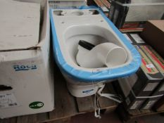 Roca The Gap toilet pan, unused but has a minor break in bottom of the toilet. Boxed.