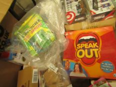 2 Items Being a Speakout Gamne (sealed) & a Crocodile Dentist Toy