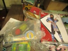2 Items Being a ninja Warlord Age 5 - 7 Costume & a Imaginext DFX82 Batwing (packaging damaged but