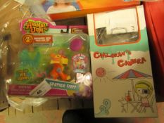 2 Items Being a Childrens Camera & a Animal Jam Sparkle Tiger Figure.