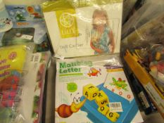2 Items Being a Matchng letter Game & a Doll Carrier. Both unused
