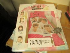 Box of 6 x Union J Single Bedding Set. New & Packaged
