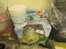 2 Items Bein an Igloo Toy & a Pot of Instant Snow.both unused
