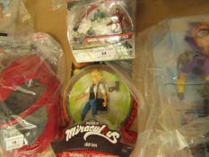 2 items Being an Avengers Iron man Mark 43 Figure Set & Miraculous Adrien Figure. New