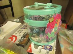 a Tub of Mermaid Hair Accessories. New & unused but tub is slightly damaged
