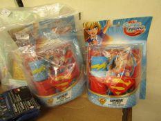 2 x DC Superhero Supergirl Hero Wear Accessories sets. Packaging slightly damaged