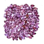 Natural Rhodolie Garnets - 23.20 carats - 100 pieces - average retail value £ 2,640.13