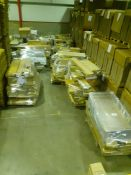 Approx 1-2 wagons of Customer returns Made.com Furniture, lamps and bed parts as manifested in the