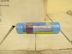 Box of 50 Rolls of 10 x 120L Refuse Sacks. New with tags & Boxed