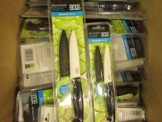 2 x Taylors Eye Witness Ceramic Knives. 13cm Utility Knife & 10cm Paring Knife. New & Packaged