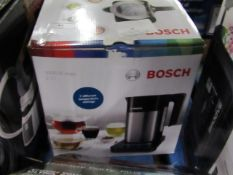 Bosch 1.7ltr 3000w kettle, tested working but we haven't added ay water to the item.