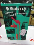Skull Candy womens sports performance earphones, boxed and unchecked