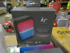 Kitsound Sonar Bluetooth speaker, new and boxed