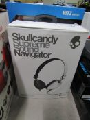 Skull Candy Navigator Supreme sound headphones, boxed and unchecked
