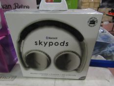 Sky Pods Bluetooth wireless headphones, new and still sealed