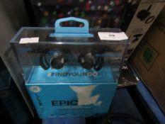 Jlabs Epic sports earphones, uncehcked in packaging