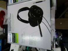 Phillips Easy Chat PC headphones, new and boxed
