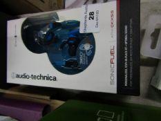 Audio Technica Sonic Fuel ATH-CKX5i5 earphones, unchecked but look unused.