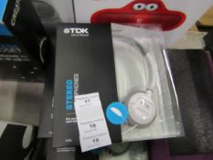 TDK Stereo headphones, new and boxed