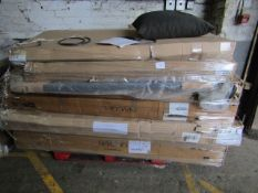 | 1X | PALLET OF SWOON BED PARTS, UNSURE IF ANY MATCH OR MAKE COMPLETE BEDS |