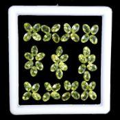 Natural Peridot - 25.00 carats - 54 pieces - Average retail value £6,492.85