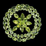 Natural peridot - 46.10 carats - 60 pieces - average retail value £20,313.91