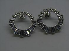 Pandora Earrings, new with presentation bag.