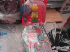 1x Super Mario - Large Collectible Figure - Packaged. 1x Monster High - Ghoul to Mermaid Toy -
