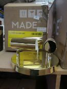 | 1X | MADE.COM OBIE ROUND CEILING 3 SPOT LIGHT IN BRASS | BOXED AND UNCHECKED |