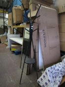 | 1 X | BLACK METAL & WOOD COAT STAND | LOOKS UNUSED (NO GUARANTEE) |